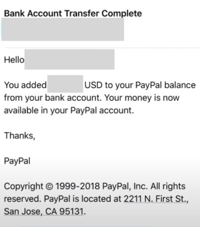 paypal payment confirmation