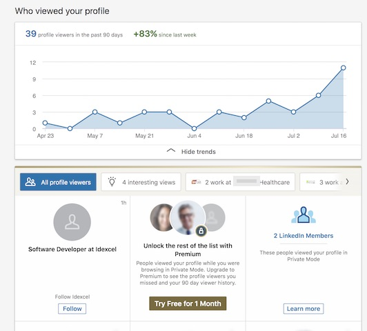 Found you via homepage profile views