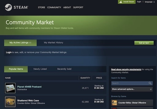 How to transfer Steam money to PayPal Community Market