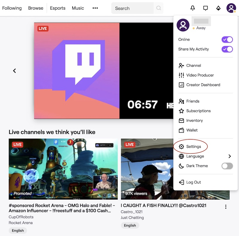 How to unblock someone on Twitch 8