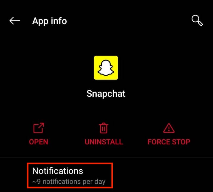 How to change Snapchat Notification Sound 4