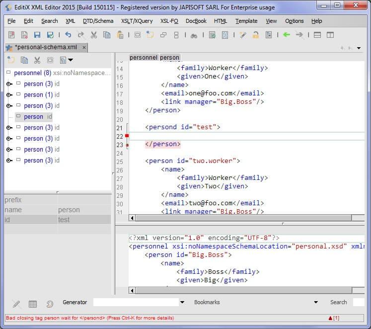 EditX Xml editor