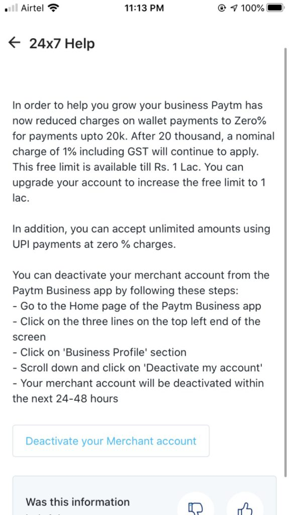 How to Delete Paytm Business Account 3