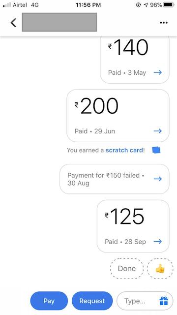 Google Pay Transaction Charges