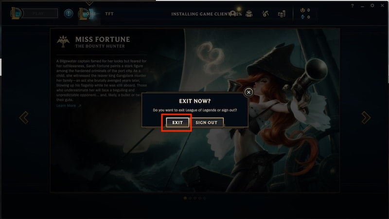 How to Log Out of League of Legends Client