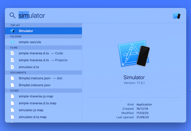 IOS simulator for mac without Xcode Text type