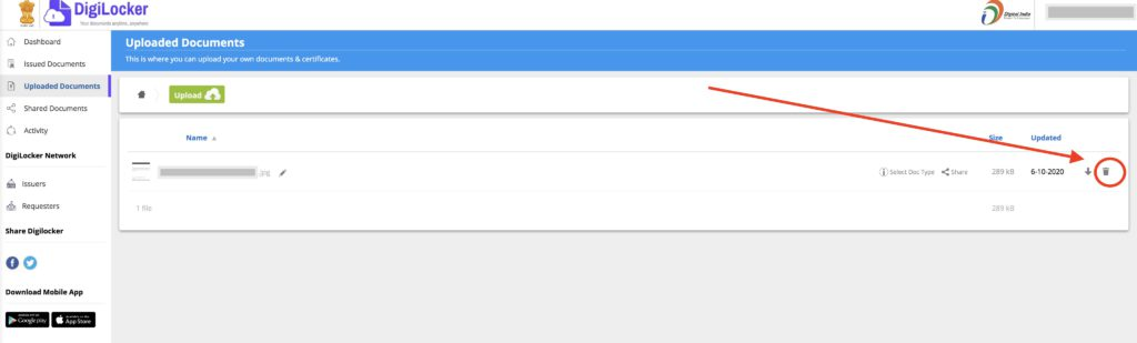How to Delete DigiLocker Account - 1