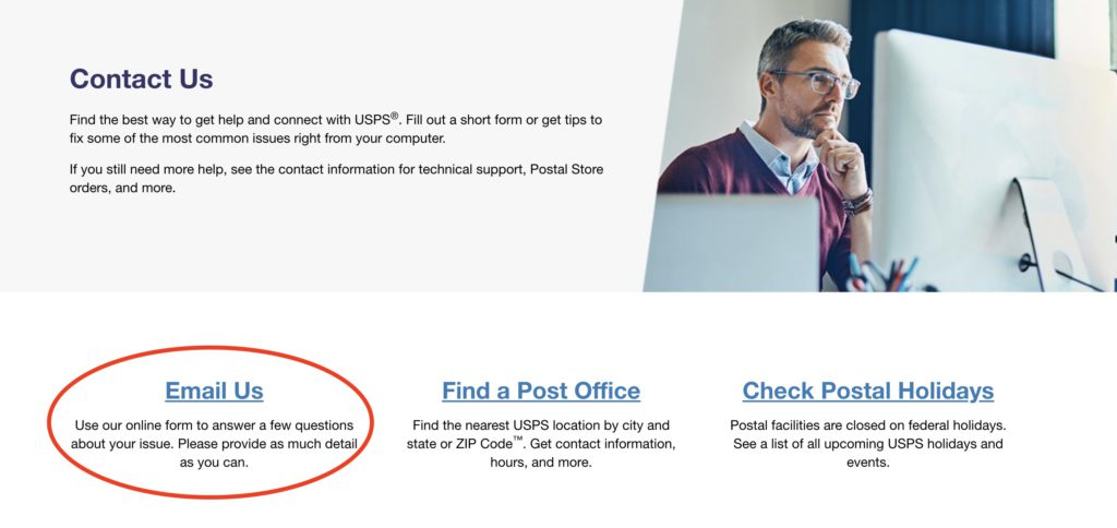 How to Delete USPS account step 2
