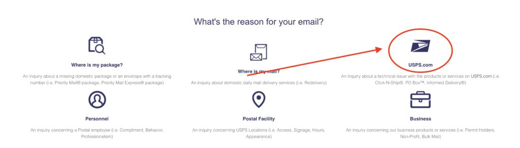How to Delete USPS account step 3