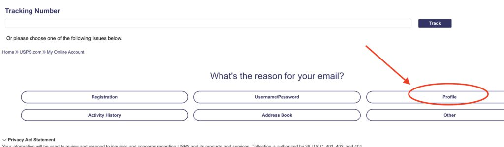 How to Delete USPS account step 6