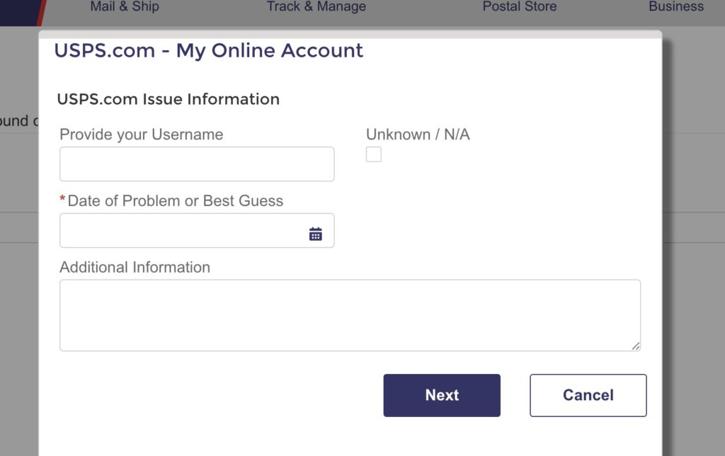 How to Delete USPS account step 7