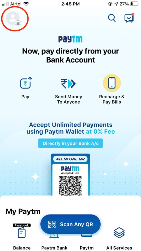 How to Remove Bank Account from Paytm - Easy 6 steps (With screenshots) 3