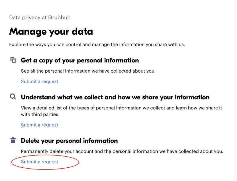 How To Delete Grubhub Account Easily 1