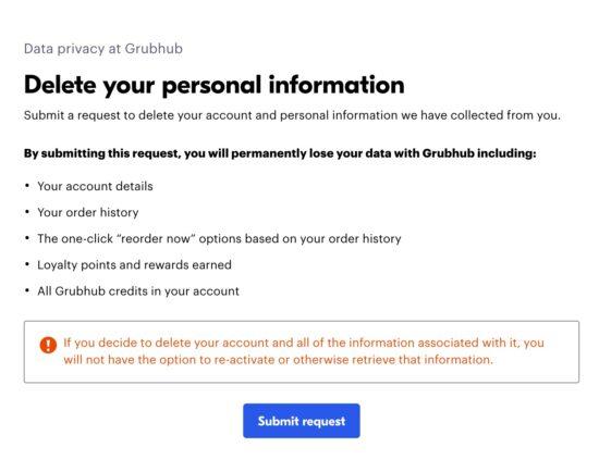 How To Delete Grubhub Account Easily 3
