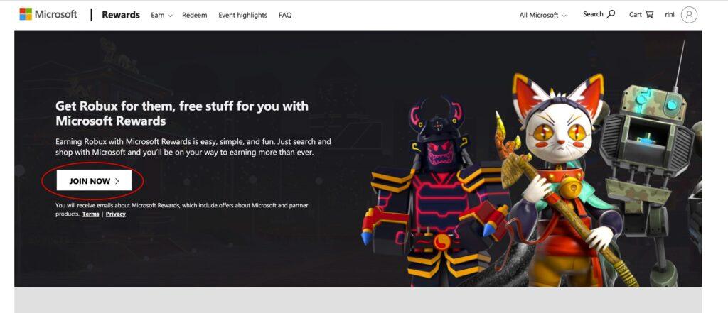 Free robux generator - Microsoft rewards program