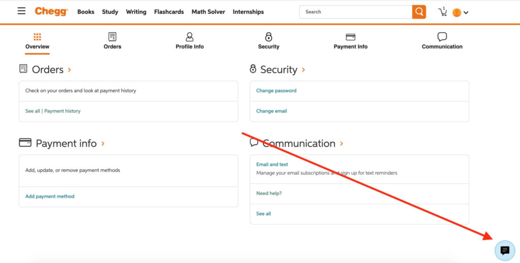 How to Delete Chegg Account - Easy Steps ( With Screenshots) 1